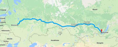 Transsibérien Moscou - Irkoutsk