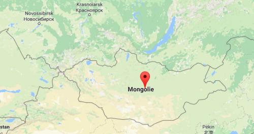 Carte Mongolie