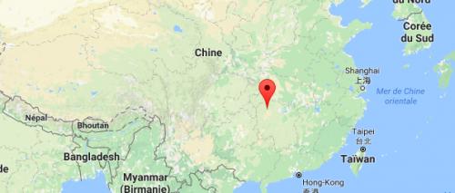 Carte Zhangjiajie - Chine