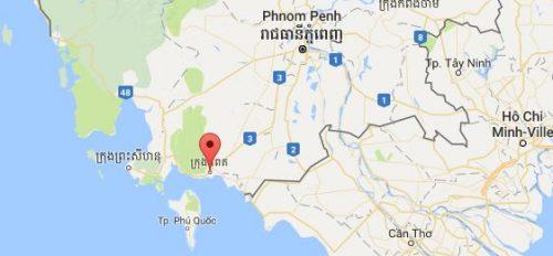 carte Kampot et Kep