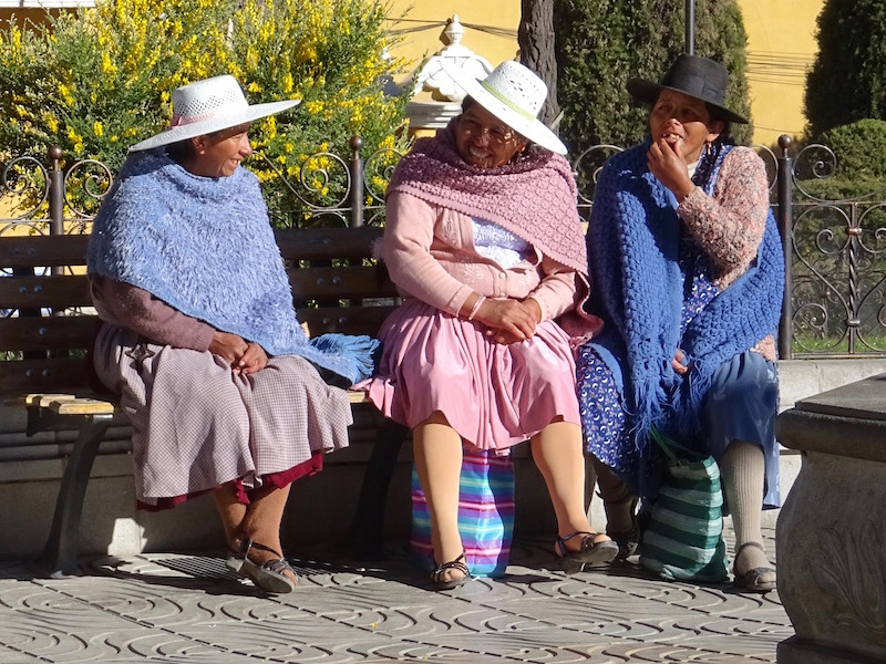 3 femmes boliviennes - Potosi - Bolivie