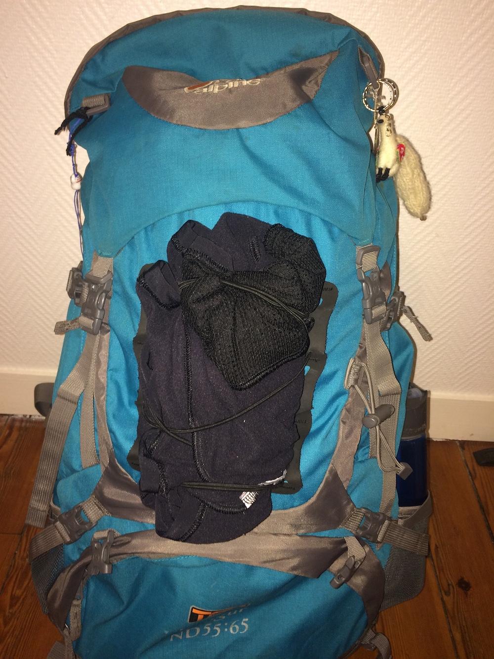 élastique de rangement extérieur sac à dos