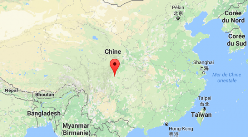 Carte Chengdu