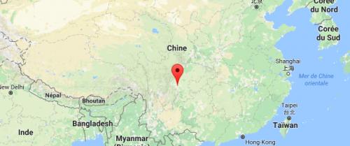 Carte Leshan Chine