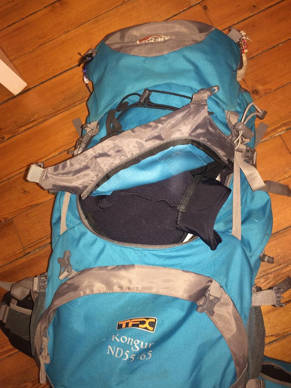 ouverture valise sac à dos