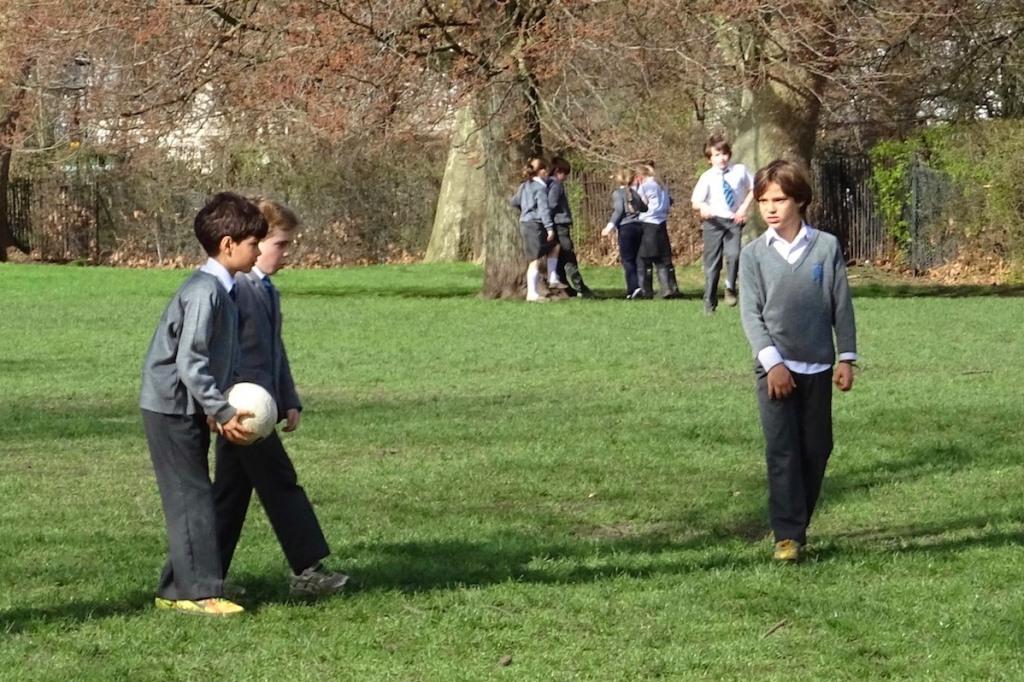écoliers - Regent park - Londres