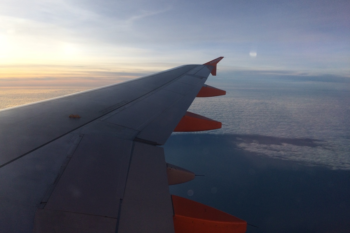 Aile d'avion Easy Jet- Londres / Nantes